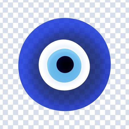 Evil eye protection sign. Protect symbol from evil eye. Vektorové ilustrace