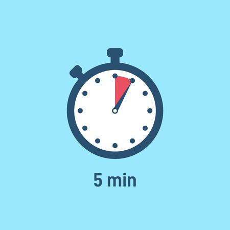 Set of sport stopwatch icons showing time