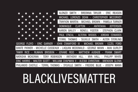 Black lives matter quote, phrase or slogan. Illustration