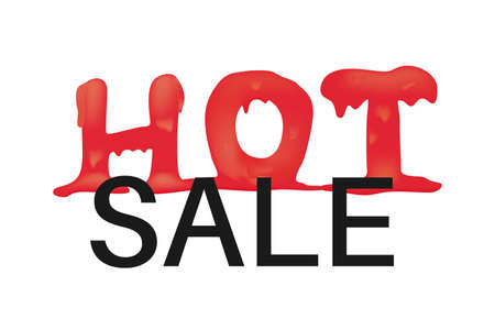 Hot melting word. Hot price, sale, offer or deal