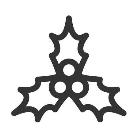 Holly leaf decoration icon. Vector illustration. Ilustração