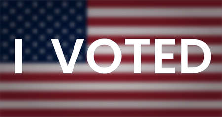 I voted phrase on blurred us flag.
