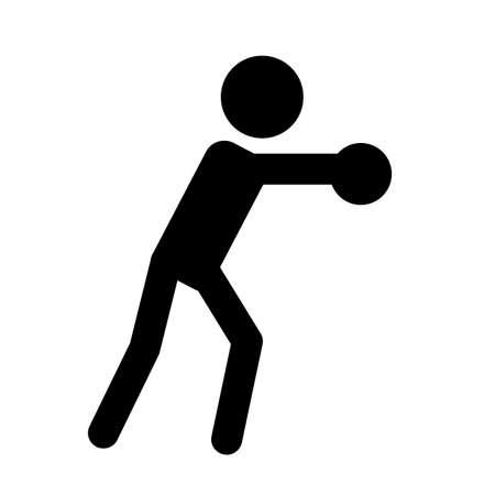 Athlete silhouette symbol on isolated background. Sport icon Ilustración de vector