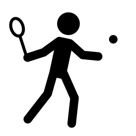 Athlete silhouette symbol on isolated background. Sport icon