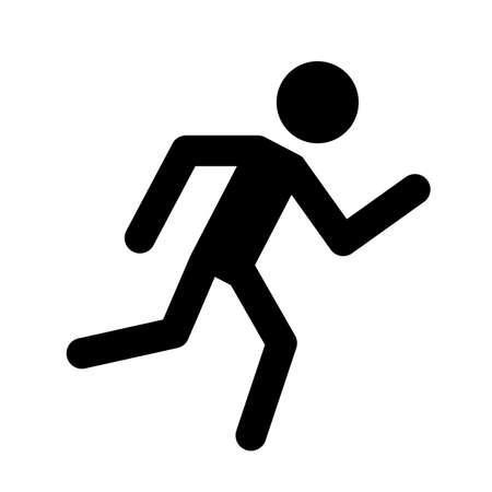 Athlete silhouette symbol on isolated background. Sport icon Ilustracje wektorowe