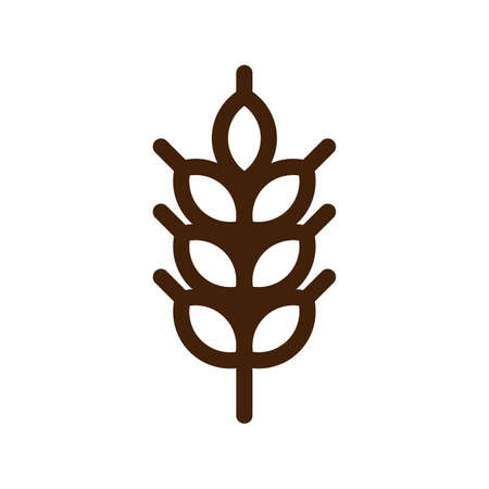Barley spike or corn ear. Bakery, bread or agriculture logo concept.