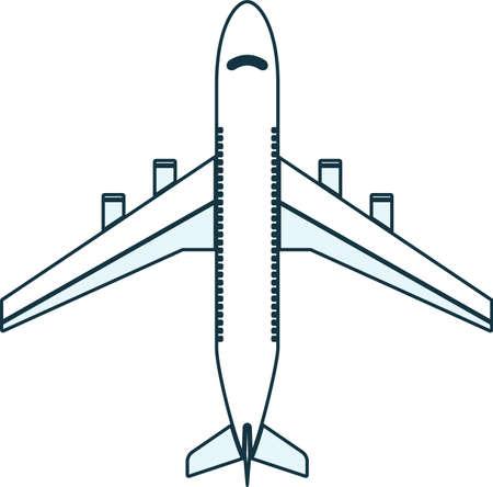 Passenger airplane icon. Aircraft symbol. Illusztráció