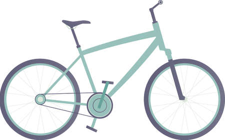 City bike, sport bicycle illustration.