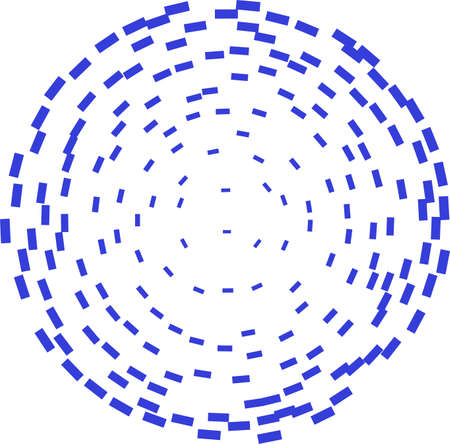 Abstract circle shape consisted of particles.