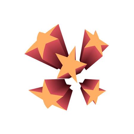 Firework celebration illustration. Star explosion, star explode illustration.