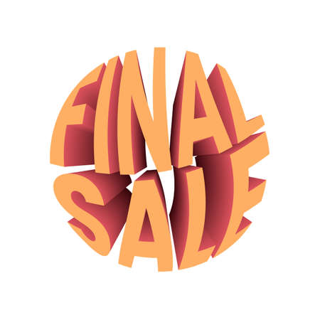 Final sale discount banner. Sale promotion text. Illusztráció