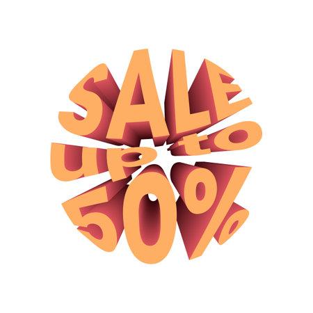 Sale up to 20 discount banner. Sale promotion text. Illusztráció