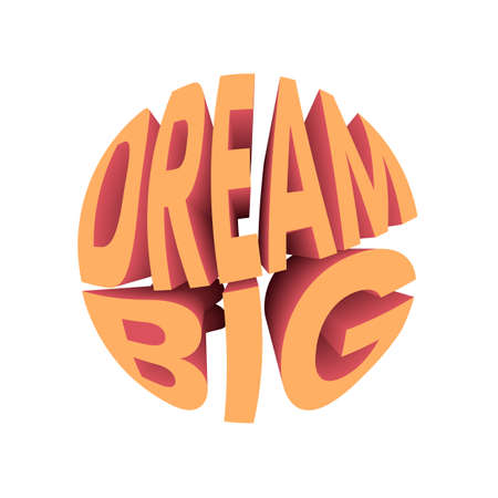 Dream big quote. Retro style design typography. Illusztráció