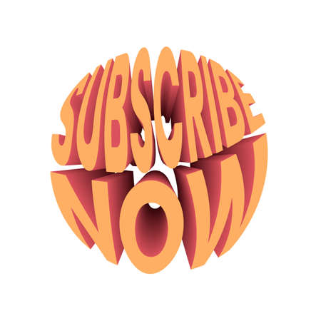Subscribe now text. Retro style design typography.
