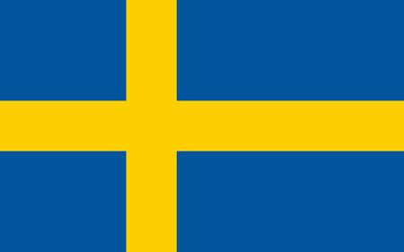 Sweden national flag, sweden national official flag. Illusztráció