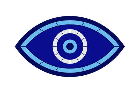 Glass islamic, greek amulet. Evil eye protection sign. Illusztráció