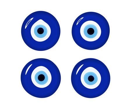 Evil eye set. Glass islamic, arabian or turkish, greek amulet