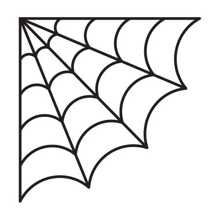 Corner Spider web. Halloween cut file Illustration