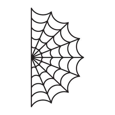 Half Spider web. Halloween cut file Illustration