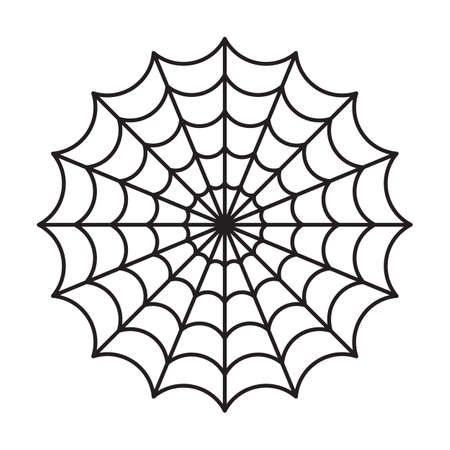 Spider web isolated. Halloween cut file