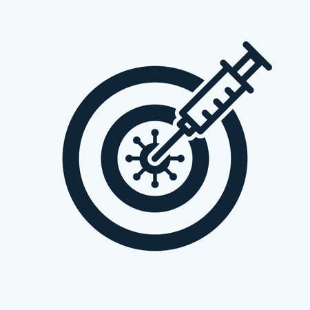Syringe with covid vaccine hits in the virus.