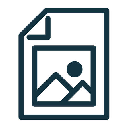 Image file icon, image file symbol. Photo sign.