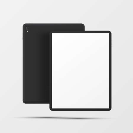 Digital tablet with touchpad realistic mockup. E-reader with empty blank touchscreen.