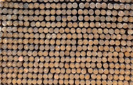 stockade: pile of wood fencing sticks