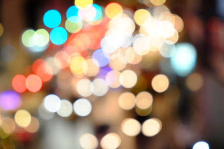 jams: Lights blurred bokeh background from Car lights during traffic jams