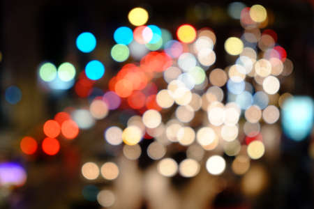 traffic jams: Lights blurred bokeh background from Car lights during traffic jams