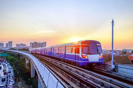 BTS Sky train mass transit system in Bangkok to help facilitate and speed the journey. With the traffic jams in the evening after work