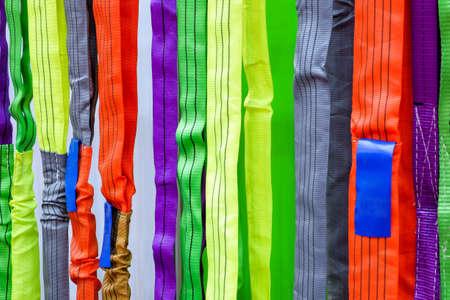 Eslinga de seguridad multicolor, Eslinga para uso industrial durante la seguridad en fábricas industriales, construcción y logística.