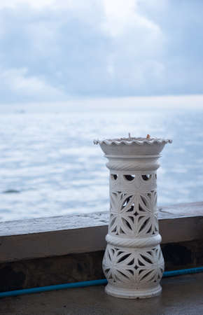 located: ashtrays located on the beach