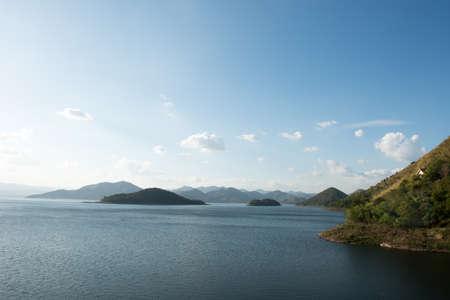 Viewpoint of resevior , kangkrajan , thailand