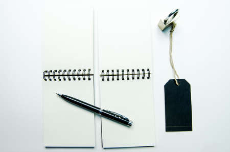 Note book on white background , isolated