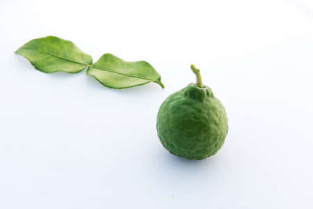Bergamot on white background , isolated Stock Photo
