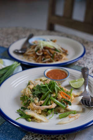 Thai food: Suki in without broth Seafood