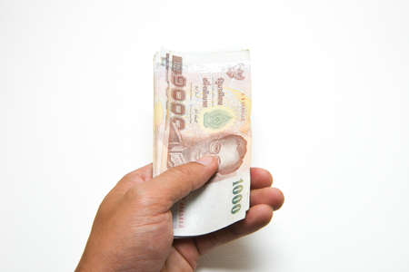 Hand were holding money Stock Photo