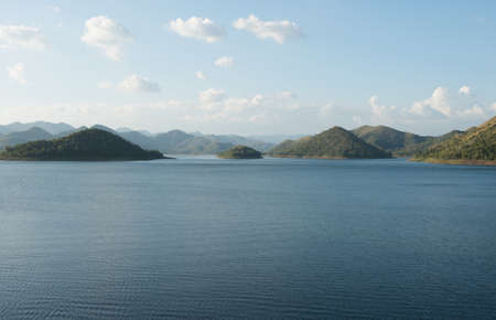 Viewpoint of reservior , kangkrajan , thailand