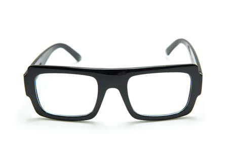 Black glasses on white background , isolated