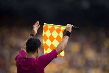Assistant referee send substitution player signal