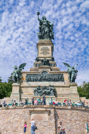 Monument to the unification of Germany and the end of the Franco-Prussian What: Niederwald Monument - Ruedesheim am Rhein, Hesse, Germany - August 1 2015