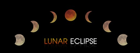 Lunar Eclipse of the Moon. 矢量图像