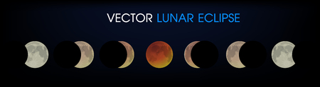 Lunar Eclipse of the Moon. Ilustrace
