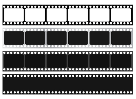 Film strip collection. Vector Isolate on white background. Vectores