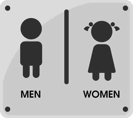 Temas de iconos de baños para hombres y mujeres Que parecen simples y modernos. Ilustración de vector. Ilustración de vector