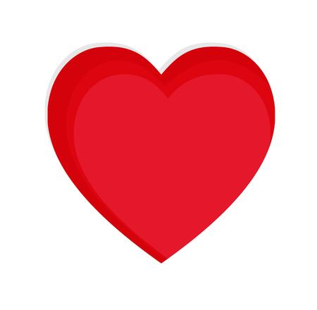Red Heart Paper cut Vector Illustration. Vetores