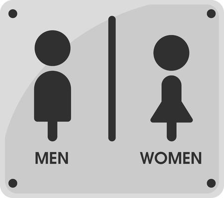 Temas de iconos de signo de baño de hombres y mujeres que se ven simples y modernos. Ilustración vectorial EPS10.