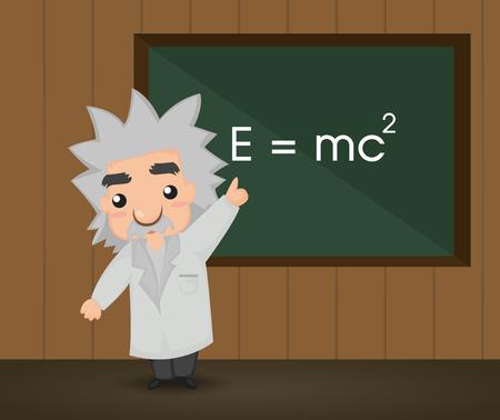 Albert Einstein. Illustration Illustration