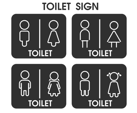 Men and Women Toilet sign icon themes That looks simple and modern. Illustration Vector . Ilustración de vector